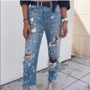 LF Carmar Portia High Rise Distressed Jeans
